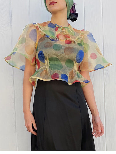 Sheer Dot Coney Blouse