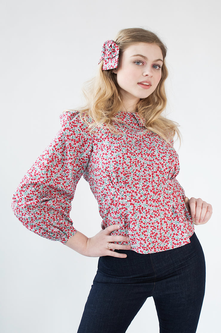 Seraphina Blouse - Red Floral