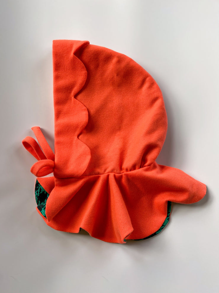 Orange Scalloped Riding Hood