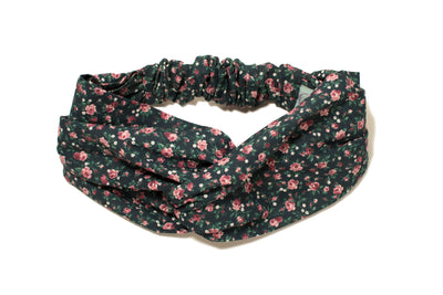 MIDNIGHT FLORAL TURBAND