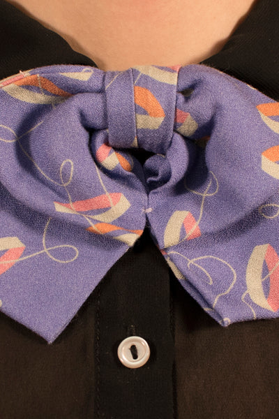 Purple Rings and Strings Bowtie