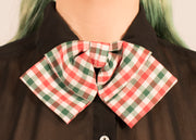 Red and Green Gingham Bowtie