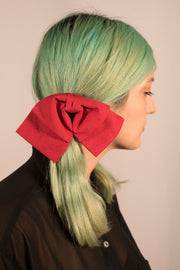 Red Swirl Bow