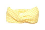 YELLOW GINGHAM TURBAND