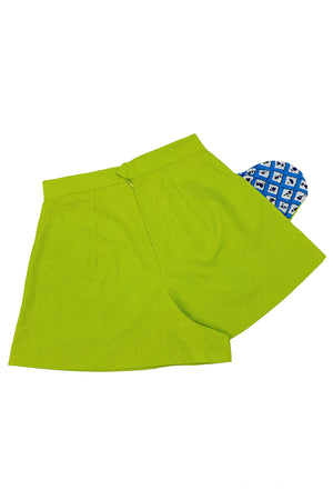 Chartreuse Dolly Shorts