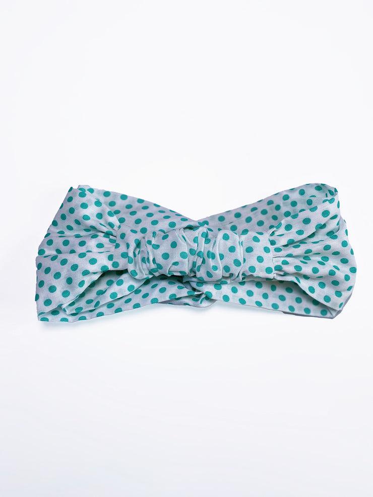 Turquoise Dots Turband