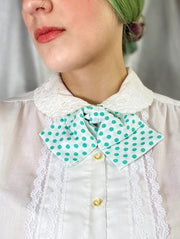 Turquoise Dots Bow Tie