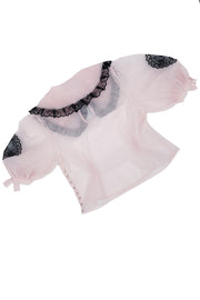 Babette Pink Swiss Dot Blouse