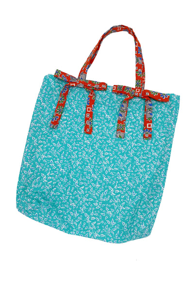 Turquoise and Coral Tote