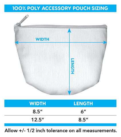 Accessory pouch size chart