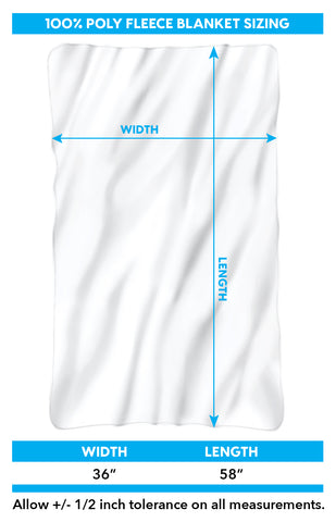 fleece blanket sizing chart