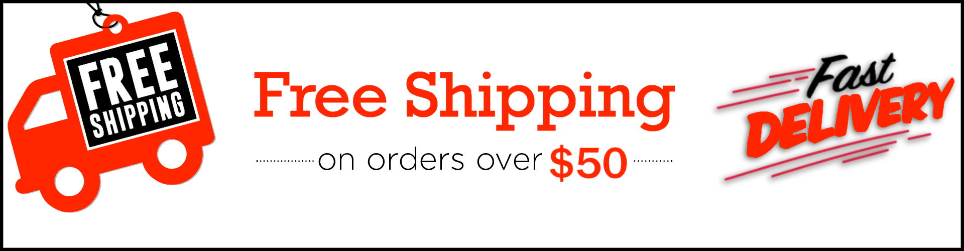 Free fast shipping over $50