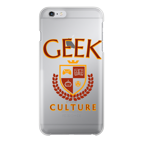 Geek Culture Transparent Hard Phone Case