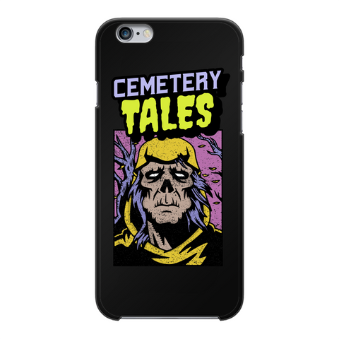 Cemetery Tales Black Hard Phone Case