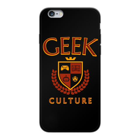 Geek Culture Black Soft Phone Case
