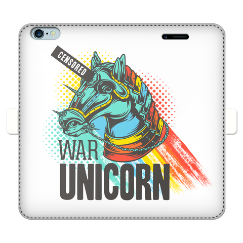 War Unicorn Wallet Cases
