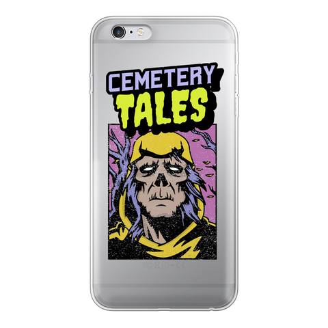 Cemetery Tales Transparent Soft Phone Case - Clearly Geek