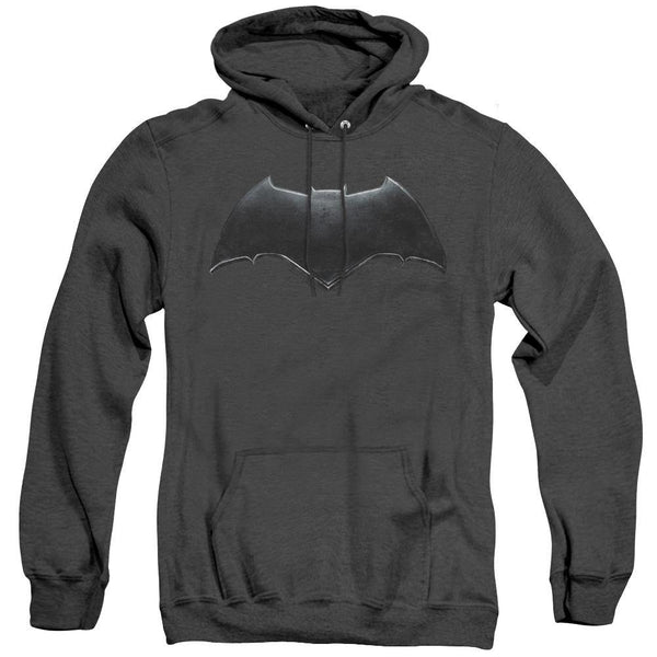 Batman Logo Hoodie Heather Gray