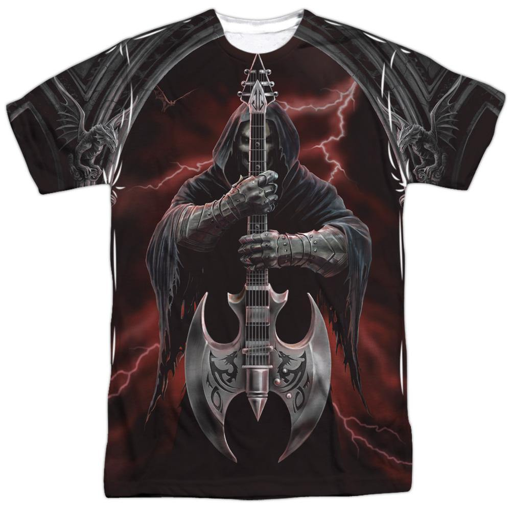 Dragon Death Guitar T-Shirt vibrant
