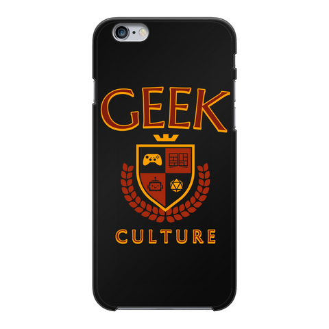 Geek Culture Black Hard Phone Case