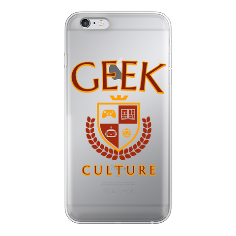 Geek Culture Transparent Soft Phone Case
