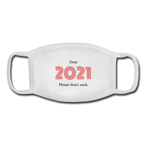 Dear 2021 Youth Face Mask - white/white