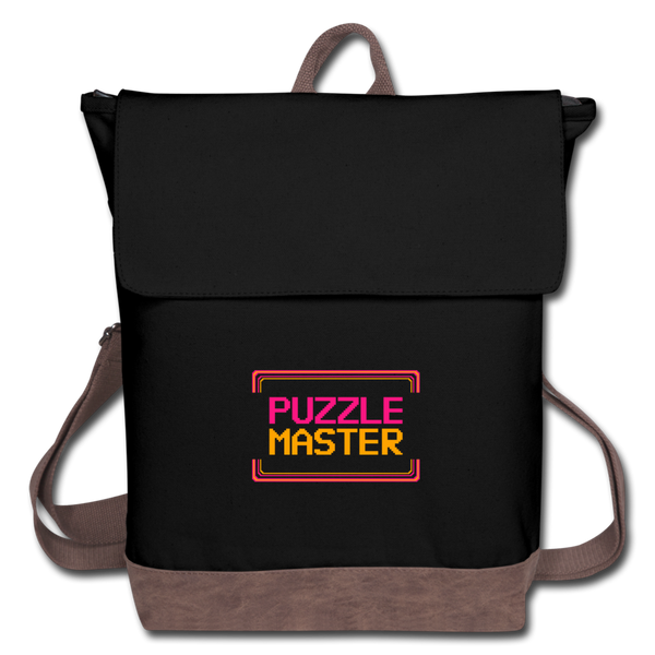 Puzzle Master Canvas Backpack - black/brown