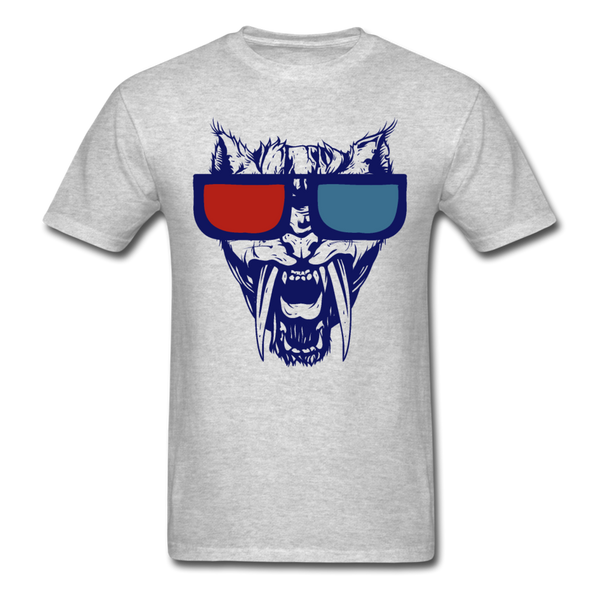 Sabretooth With 3D Glasses  T-Shirt - heather gray