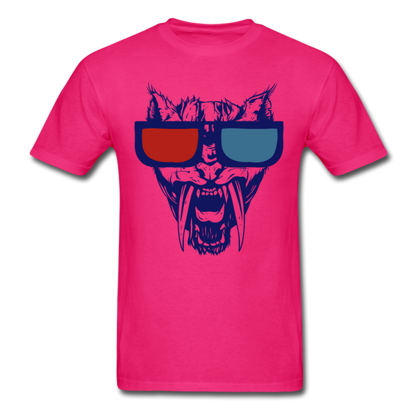 Sabretooth With 3D Glasses  T-Shirt - fuchsia