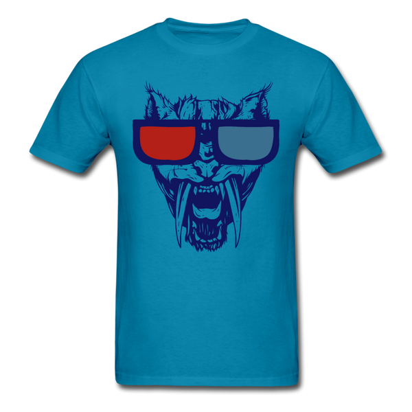 Sabretooth With 3D Glasses  T-Shirt - turquoise