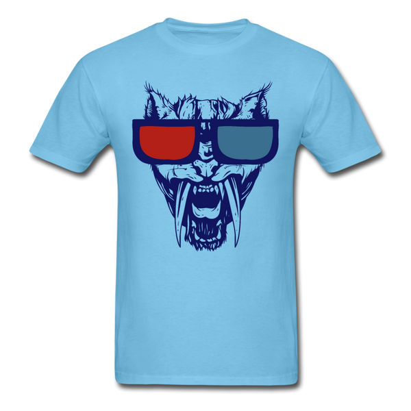 Sabretooth With 3D Glasses  T-Shirt - aquatic blue