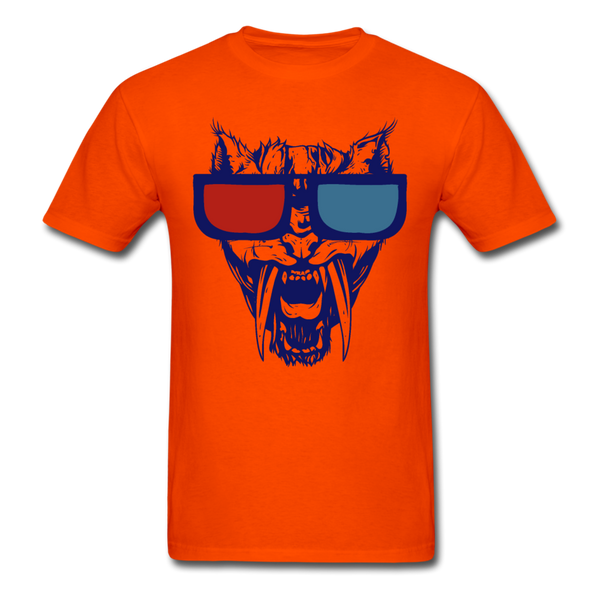 Sabretooth With 3D Glasses  T-Shirt - orange