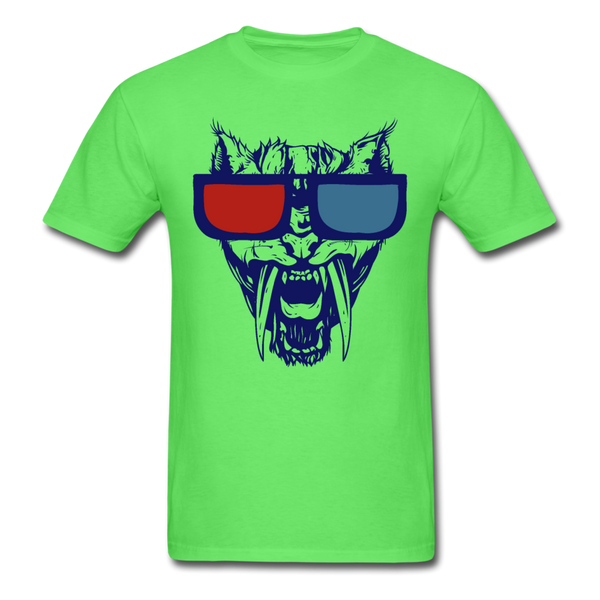 Sabretooth With 3D Glasses  T-Shirt - kiwi