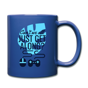 Cant We All Get Along coffee Mug - royal blue