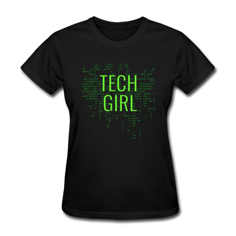 Tech Girl Women's T-Shirt - black
