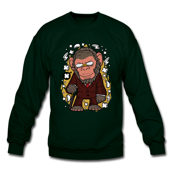 The Old Monkey Crewneck Sweatshirt - forest green