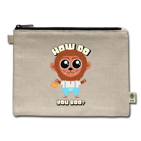 How Do You Boo? Carry Pouch - natural