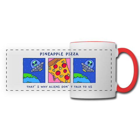 Pineapple Pizza Coffee Mug - white/red
