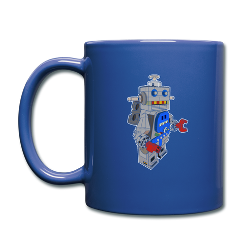 Block Robot Coffee Mug - royal blue