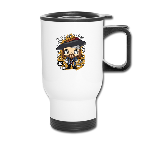 Pirate Travel Mug - white