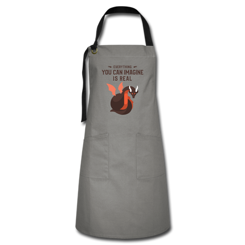 Everything You Can Imagine Is Real Artisan Apron - gray/black
