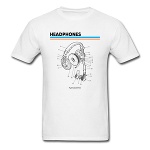 Exploded Headphones T-Shirt - white