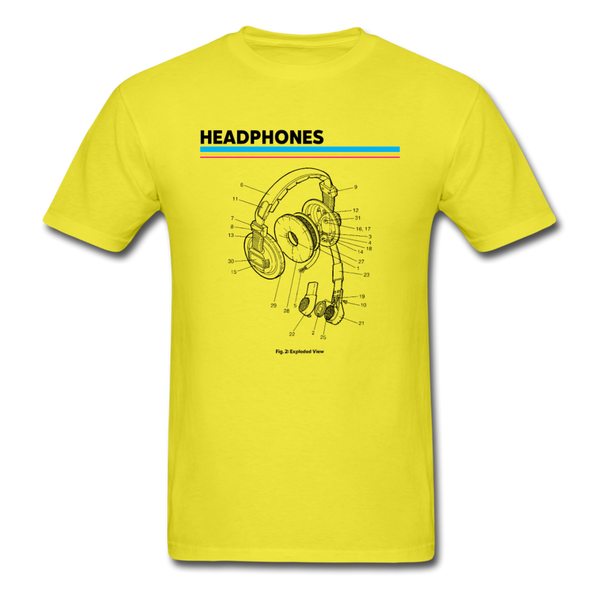 Exploded Headphones T-Shirt - yellow