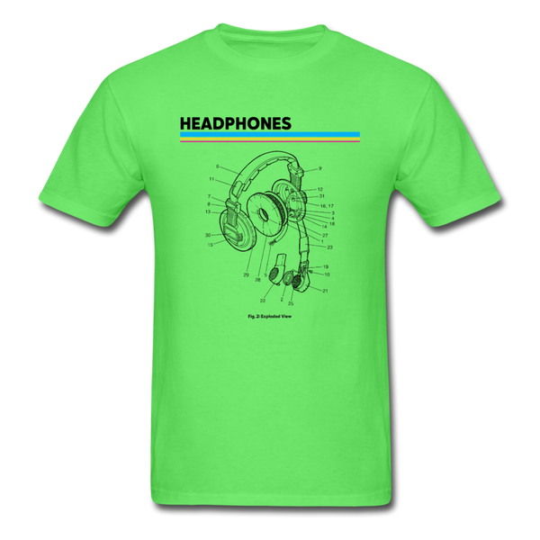 Exploded Headphones T-Shirt - kiwi