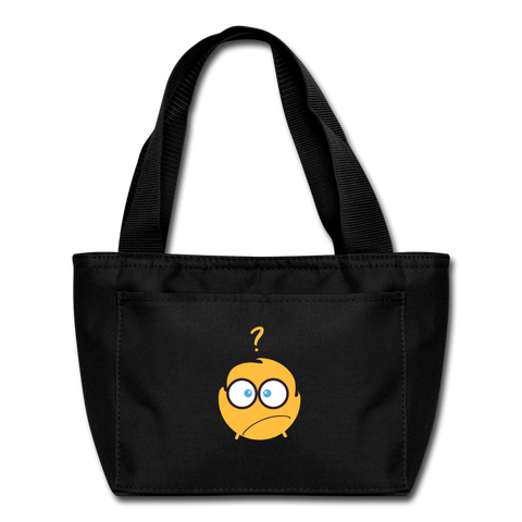 Say What? Lunch Bag - black