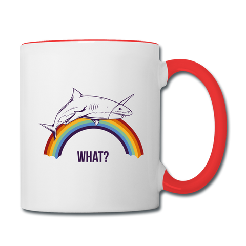 What? Coffee Mug - white/red