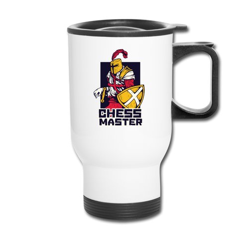 Chess Master Travel Mug - white