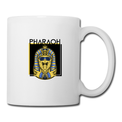 Monkey Pharaoh Coffee Mug - white