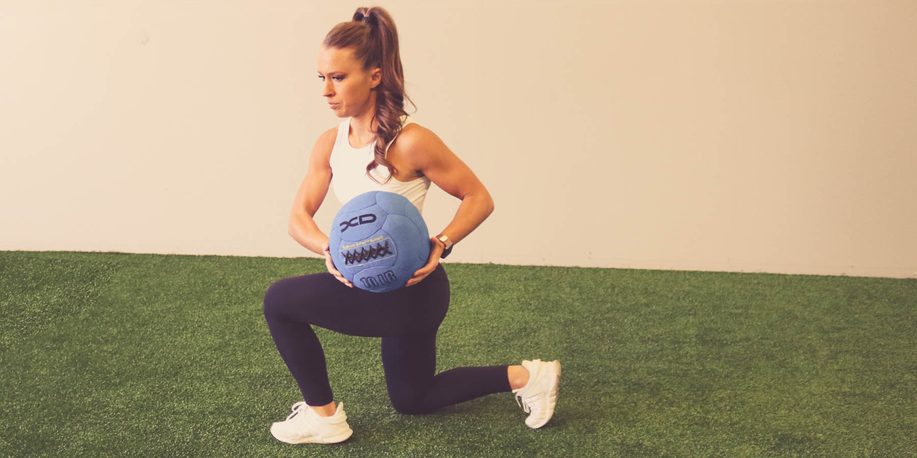 Medicine ball exercise with Blue Medicine Ball