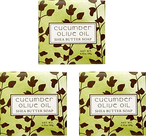Cucumber Olive Scented Bar Soap 6.35 oz 3 Pack